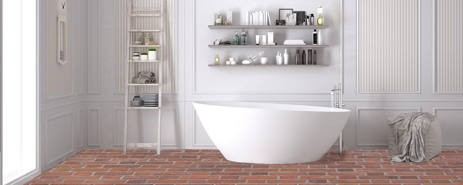Quid d\'un sol en brique pour votre salle de bains ? | Guide Artisan